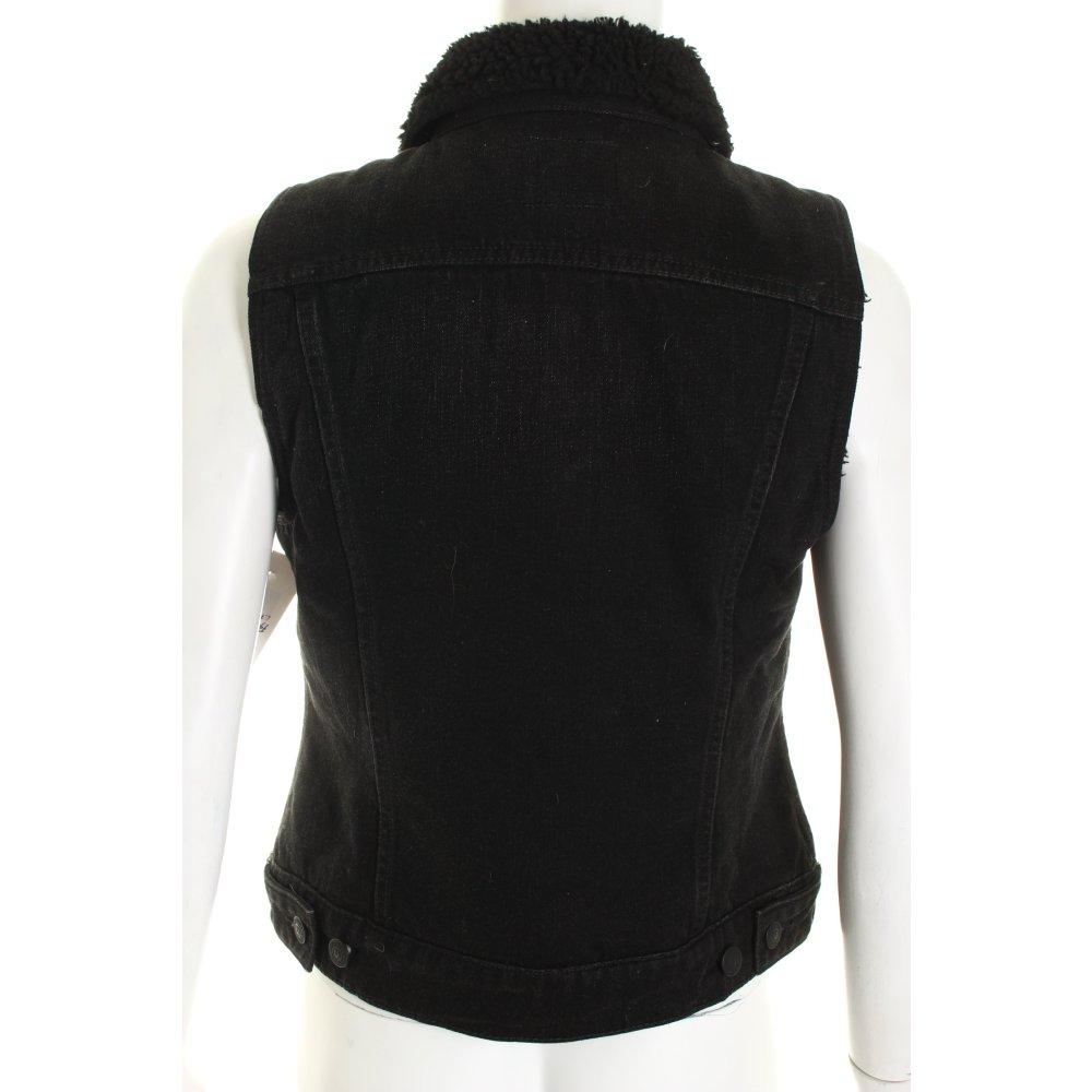 true religion jeansweste schwarz street fashion look damen gr de 36 weste vest ebay. Black Bedroom Furniture Sets. Home Design Ideas