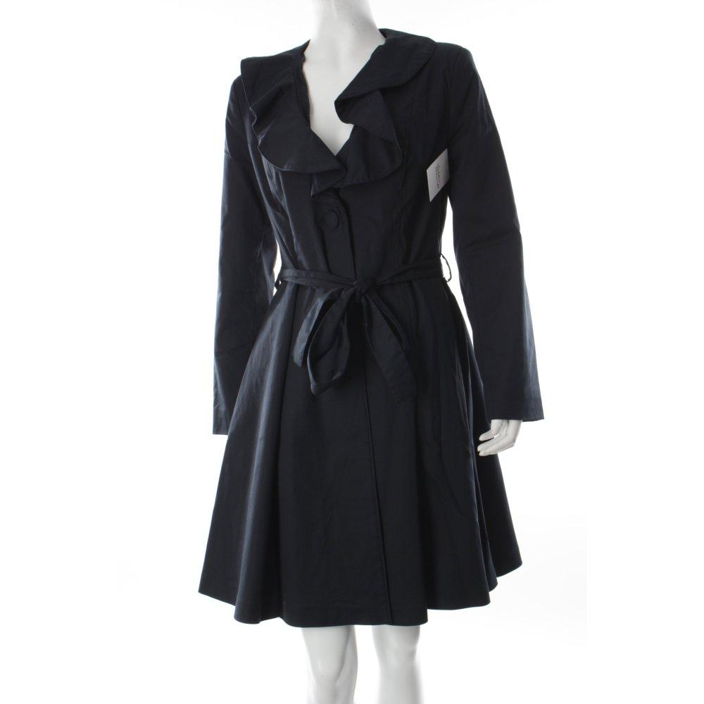bergangsmantel dunkelblau damen gr de 36 mantel coat bergangsmantel ebay. Black Bedroom Furniture Sets. Home Design Ideas
