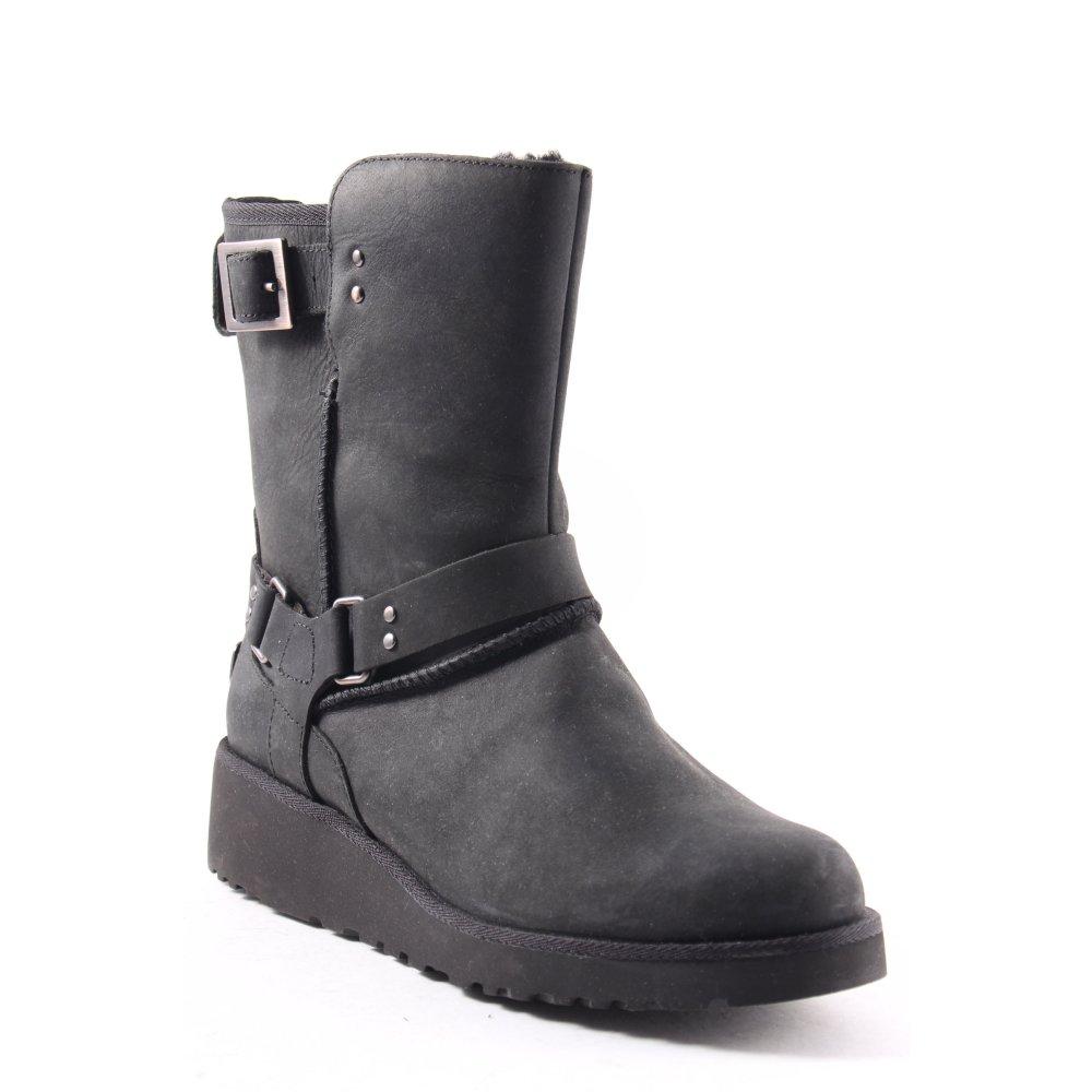 ugg australia ankle boots anthrazit silberfarben casual. Black Bedroom Furniture Sets. Home Design Ideas