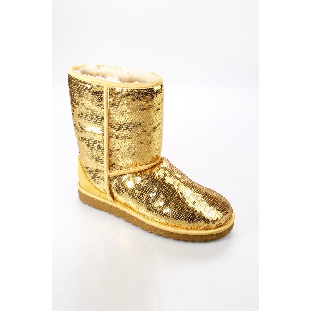 Gold Shoe Boots New Look
