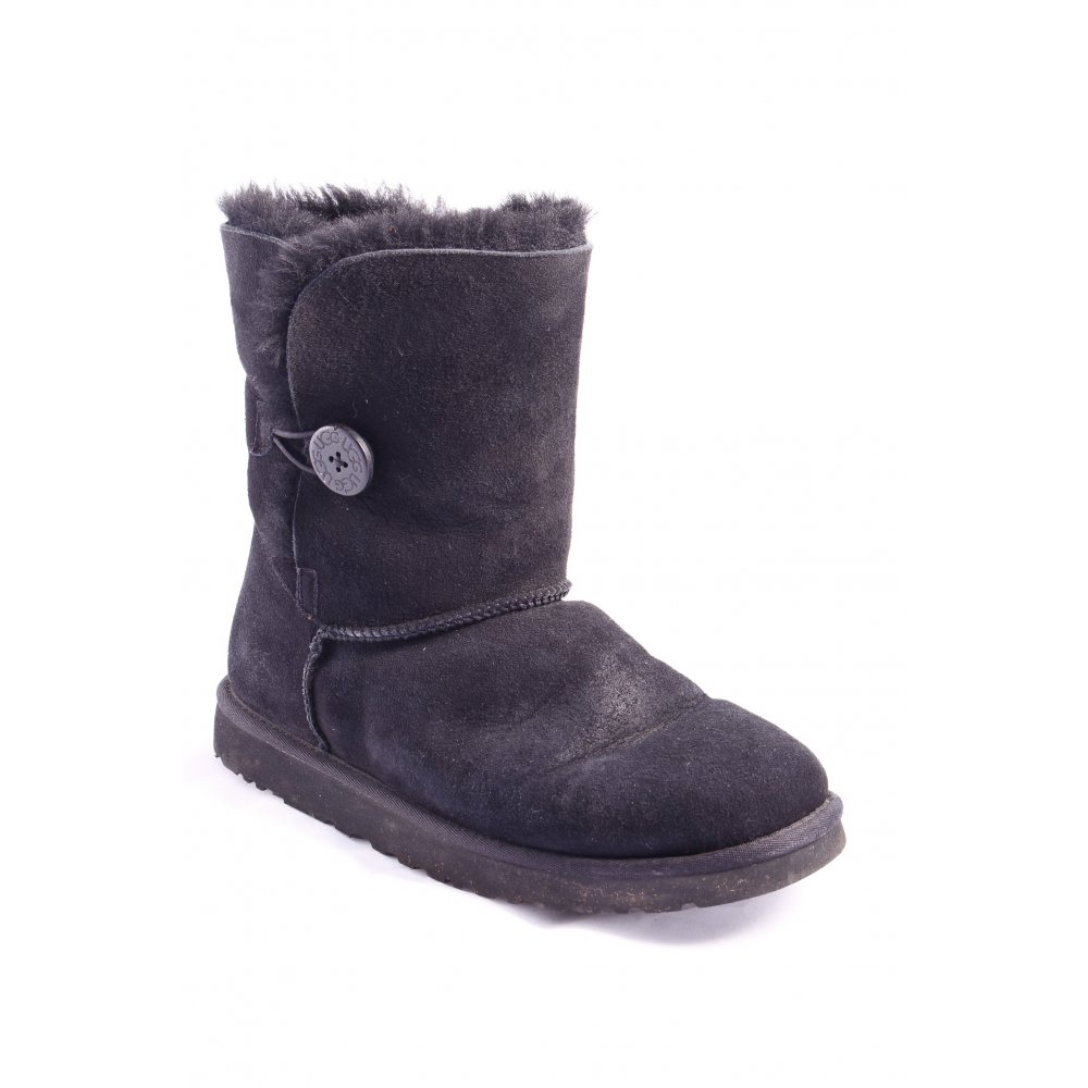 ugg australia snow boots black street fashion look women s size uk 8. Black Bedroom Furniture Sets. Home Design Ideas