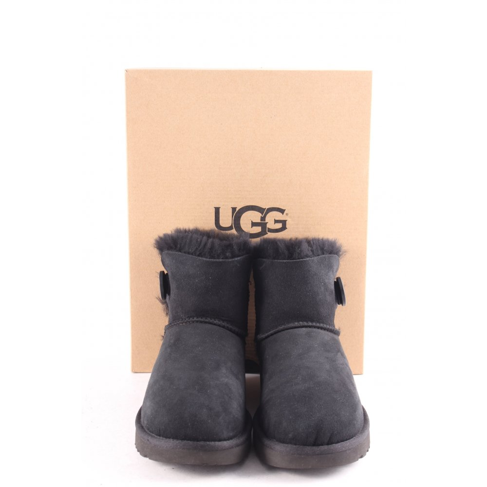 ugg australia winter boots w mini bailey button ii black 37 black women s ebay. Black Bedroom Furniture Sets. Home Design Ideas