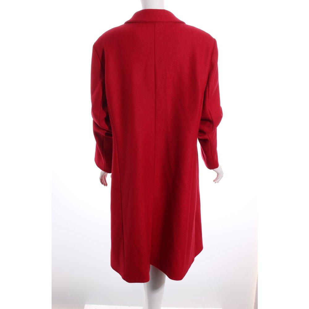 ulla popken wollmantel rot casual look damen gr de 46. Black Bedroom Furniture Sets. Home Design Ideas
