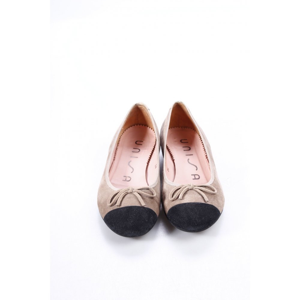 unisa ballerinas grey brown black bow detail women s size uk 3 shoes ebay. Black Bedroom Furniture Sets. Home Design Ideas