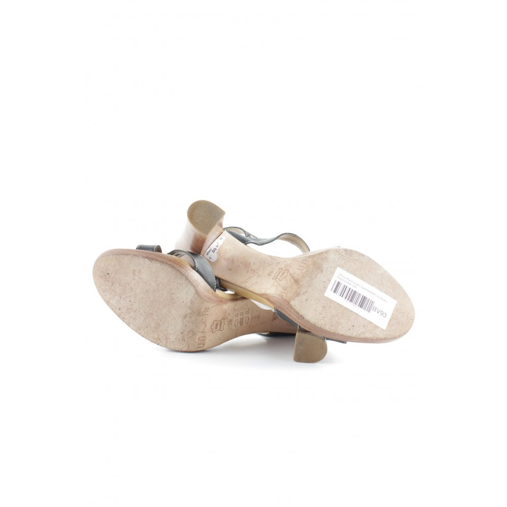 Unisa riemchen sandaletten schwarz klassischer stil damen for Klassischer stil