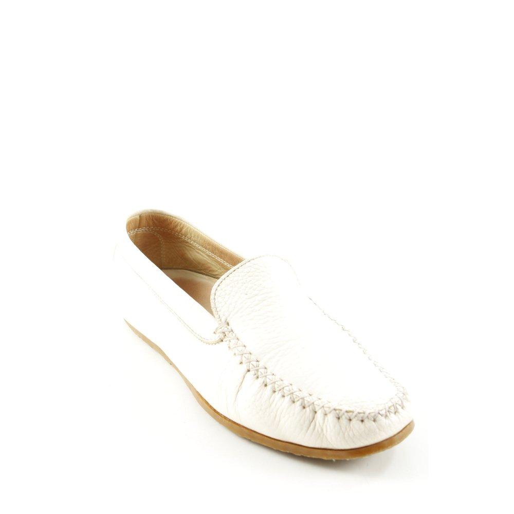 Dettagli su UNüTZER Mocassino bianco sporco stile casual Donna Taglia IT 38 Scarpa