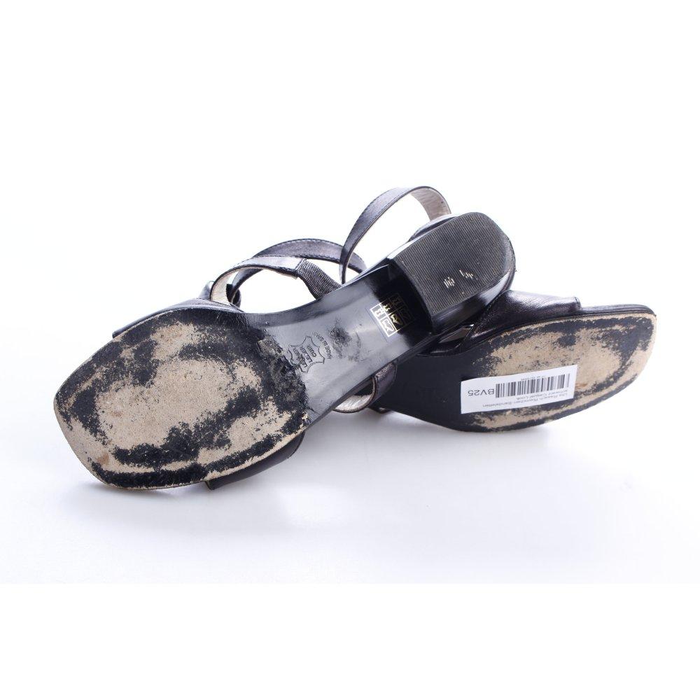 uta raasch riemchen sandaletten schwarz casual look damen gr de 39 leder ebay. Black Bedroom Furniture Sets. Home Design Ideas