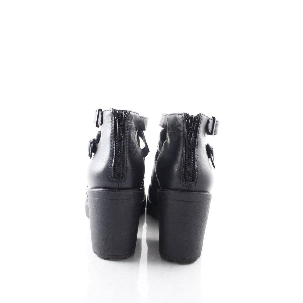 vagabond ankle boots schwarz leder optik damen gr de 37. Black Bedroom Furniture Sets. Home Design Ideas