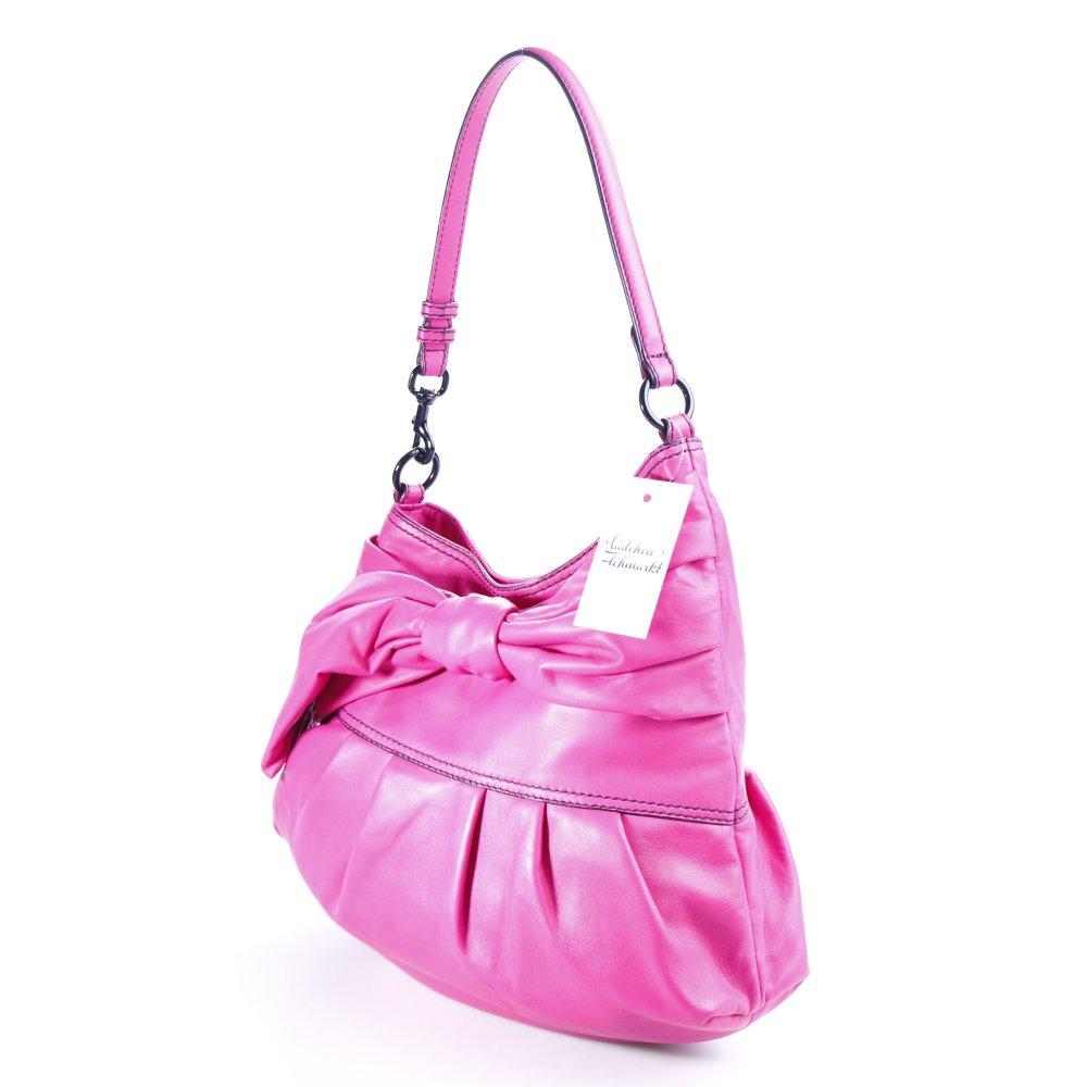 valentino handtasche pink schwarz street fashion look. Black Bedroom Furniture Sets. Home Design Ideas