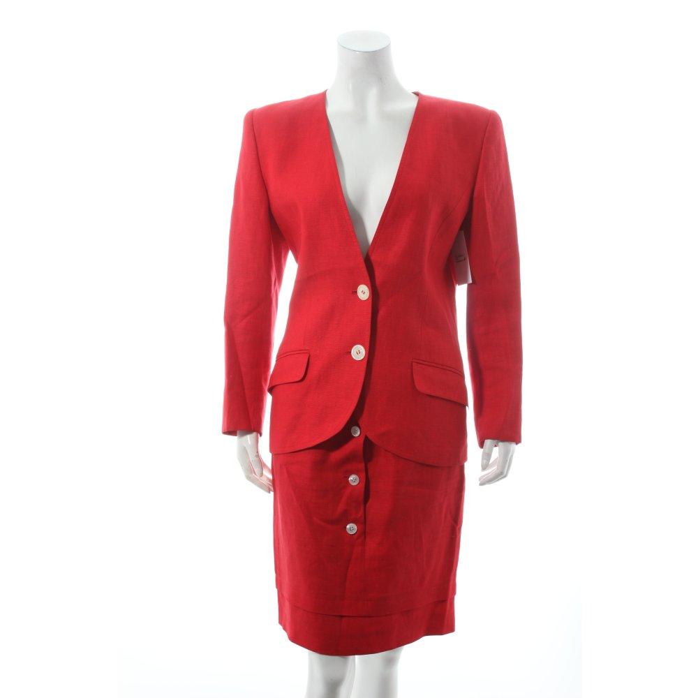 valentino kost m rot business look damen gr de 34 anzug suit ladies suit ebay. Black Bedroom Furniture Sets. Home Design Ideas