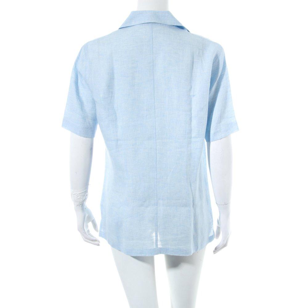 van laack kurzarm bluse hellblau meliert beach look damen gr de 38 blouse. Black Bedroom Furniture Sets. Home Design Ideas