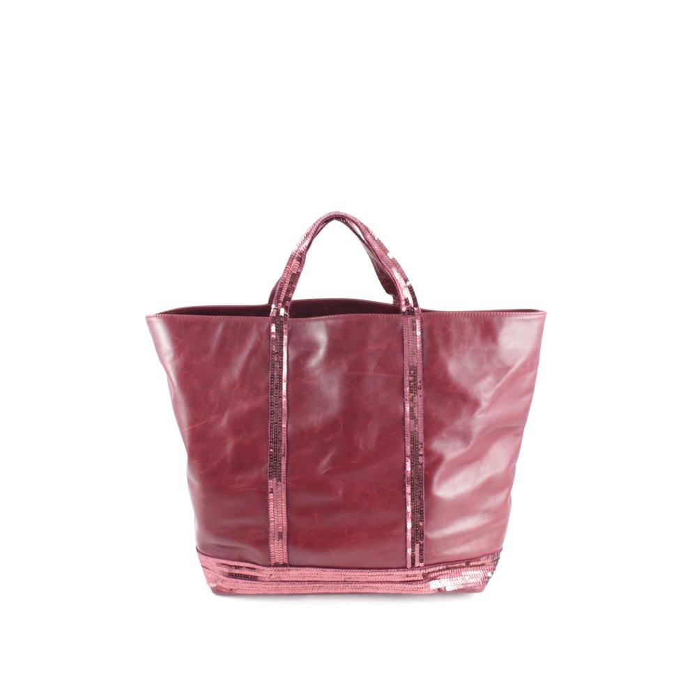 vanessa bruno shopper bordeauxrot glitzer optik damen tasche bag leder ebay. Black Bedroom Furniture Sets. Home Design Ideas