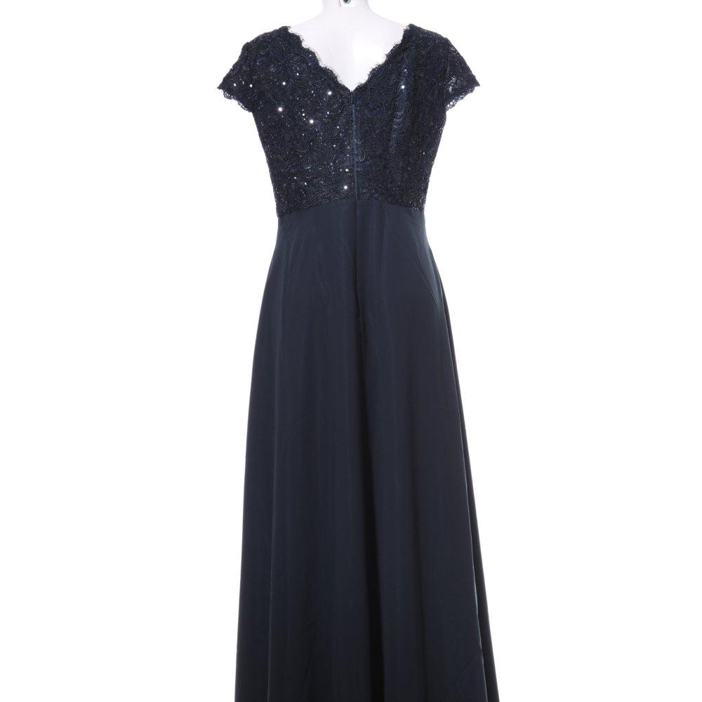 VERA MONT Abendkleid blau Blumenmuster Elegant Damen Gr ...