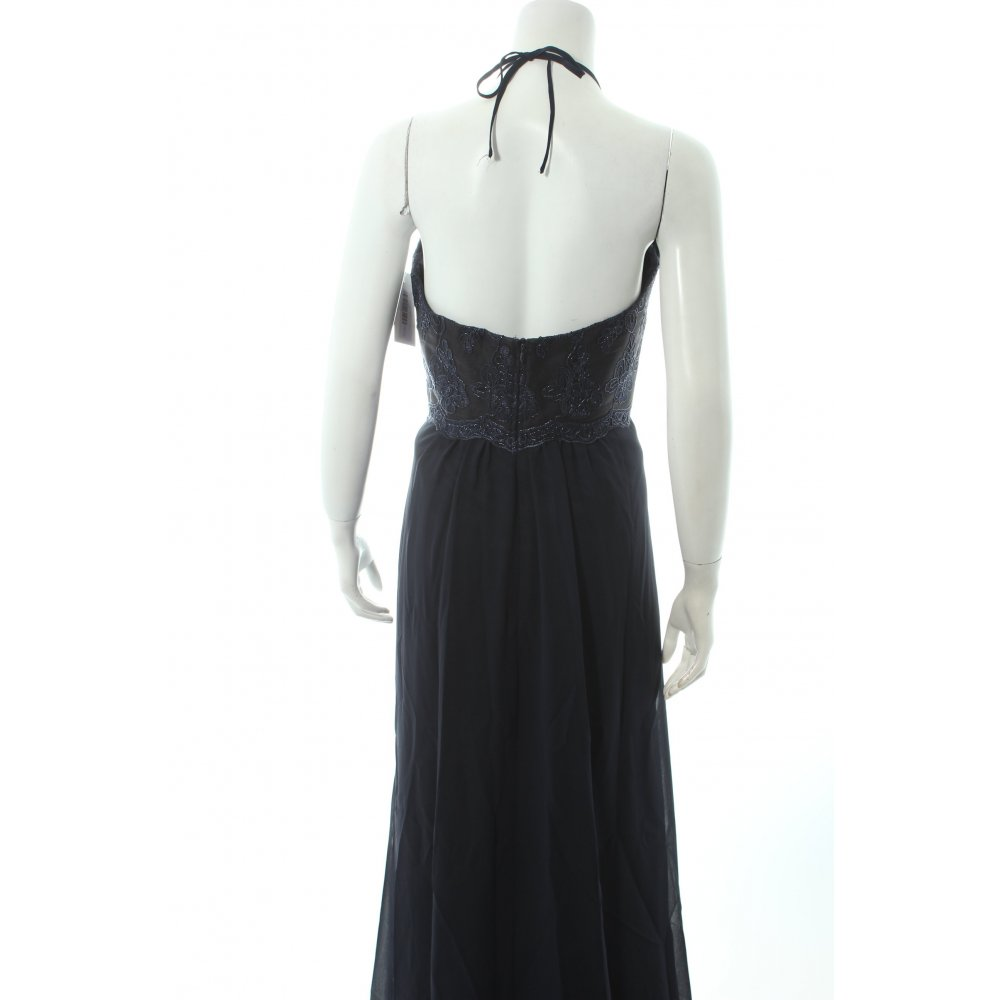 vera mont evening dress dark blue elegant women s size uk 12 ebay. Black Bedroom Furniture Sets. Home Design Ideas