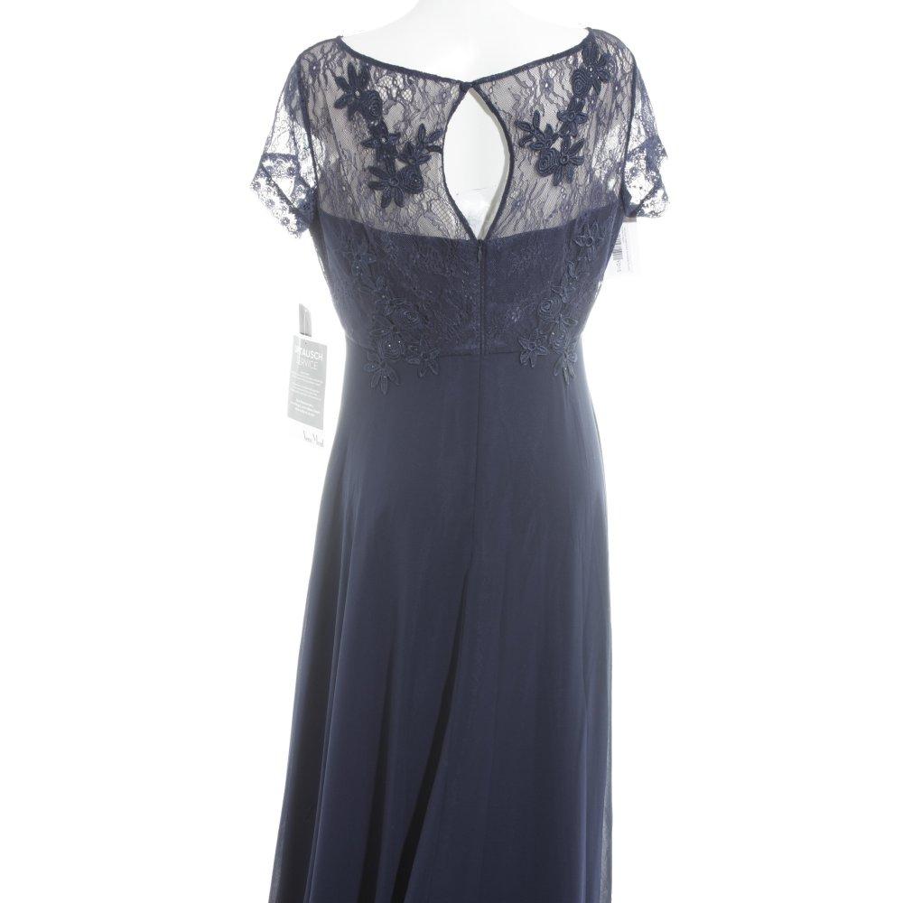 VERA MONT Abendkleid dunkelblau florales Muster Elegant ...
