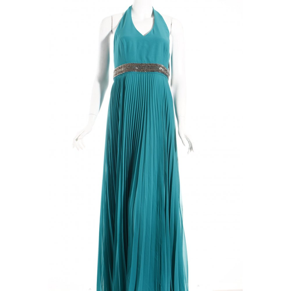 vera mont evening dress turquoise elegant women s size uk 10 ebay. Black Bedroom Furniture Sets. Home Design Ideas
