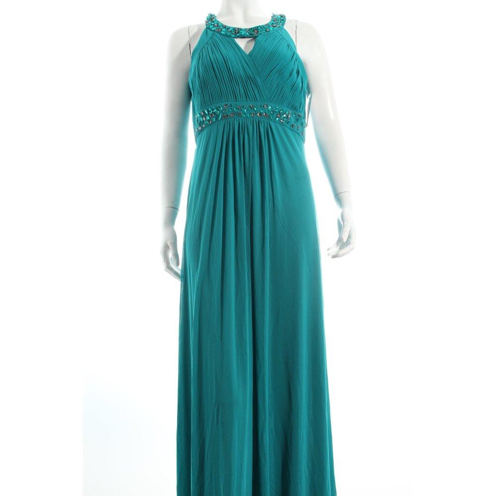 vera mont abendkleid t rkis extravaganter stil damen gr de 38 kleid dress ebay. Black Bedroom Furniture Sets. Home Design Ideas