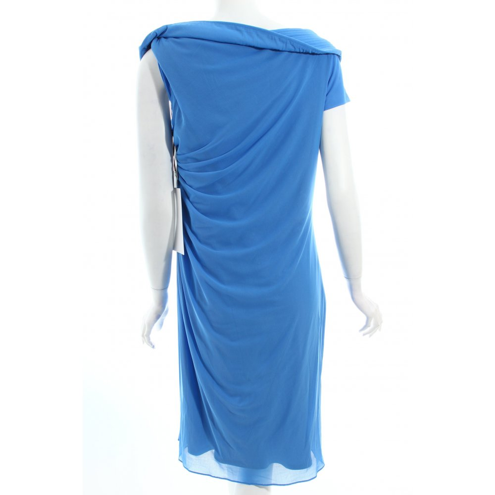 vera mont cocktailkleid blau perlenverzierung damen gr de 44 kleid dress ebay. Black Bedroom Furniture Sets. Home Design Ideas