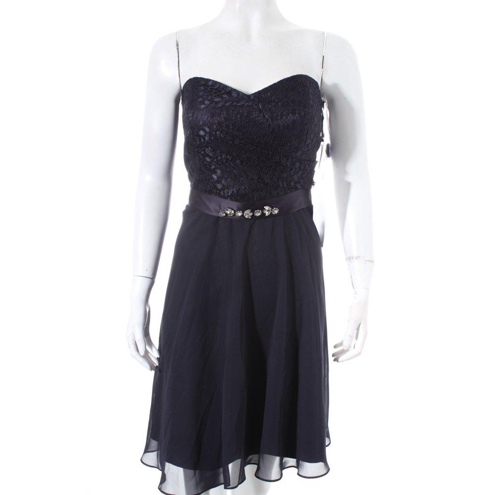 vera mont cocktailkleid dunkelblau elegant damen gr de 40 kleid dress. Black Bedroom Furniture Sets. Home Design Ideas