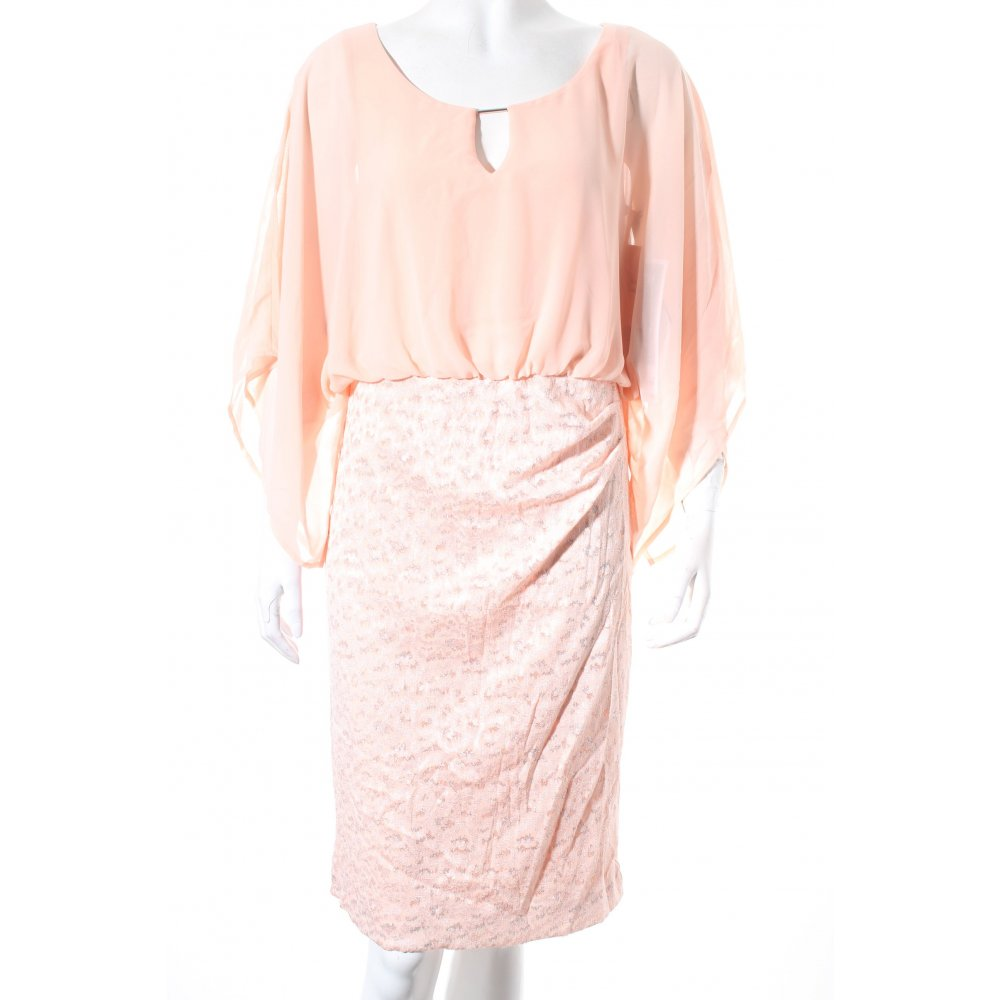 vera mont cocktail dress light pink silver colored