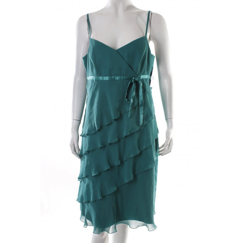 vera mont cocktail dress cadet blue green party style women s size. Black Bedroom Furniture Sets. Home Design Ideas