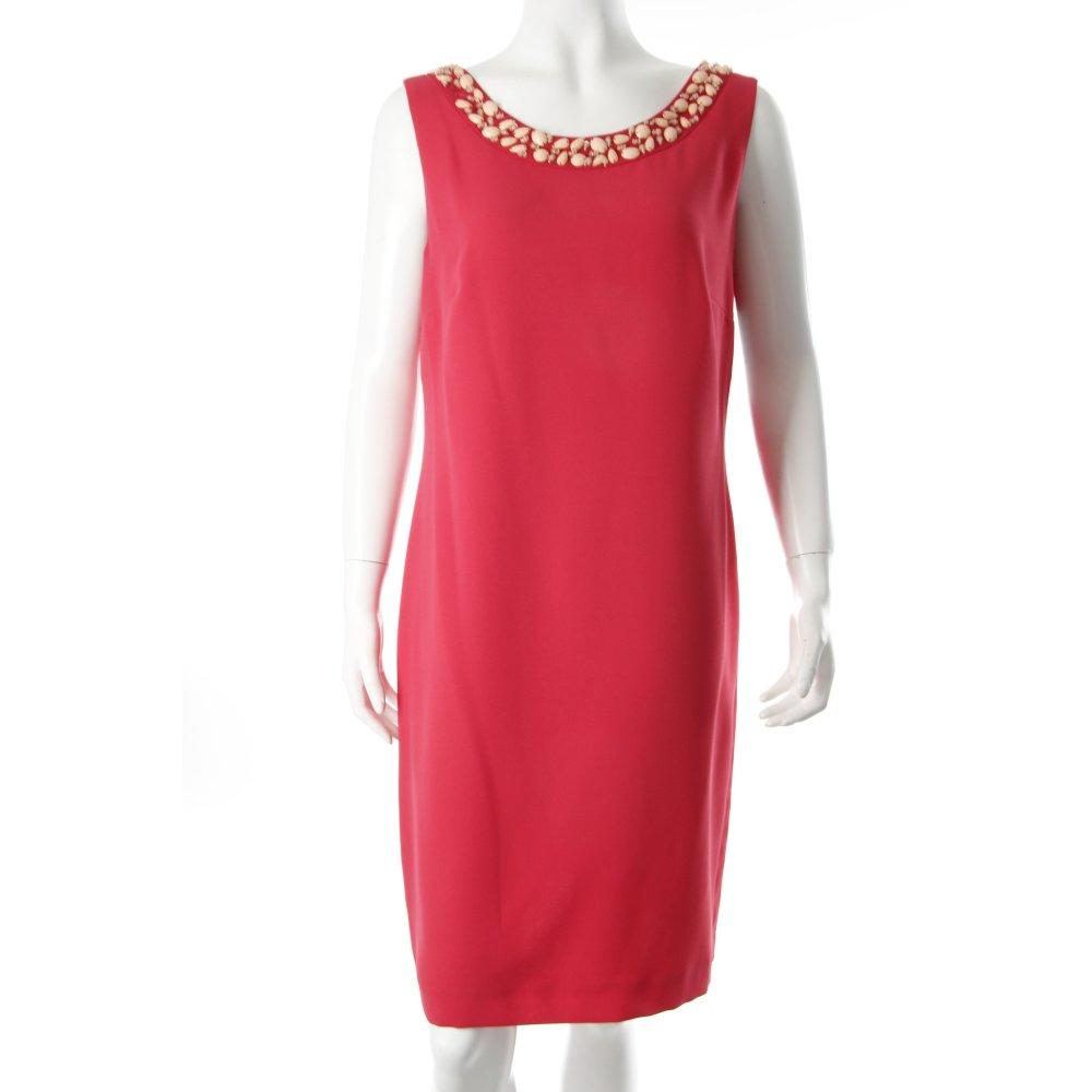vera mont schede jurk baksteenrood lovertjes versieringen dames maat eu 42 ebay. Black Bedroom Furniture Sets. Home Design Ideas
