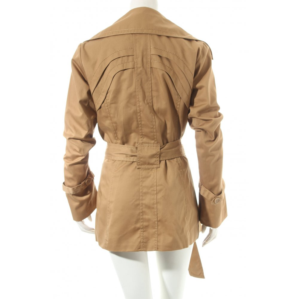 vero moda short coat light brown casual look women s size uk 10 ebay. Black Bedroom Furniture Sets. Home Design Ideas