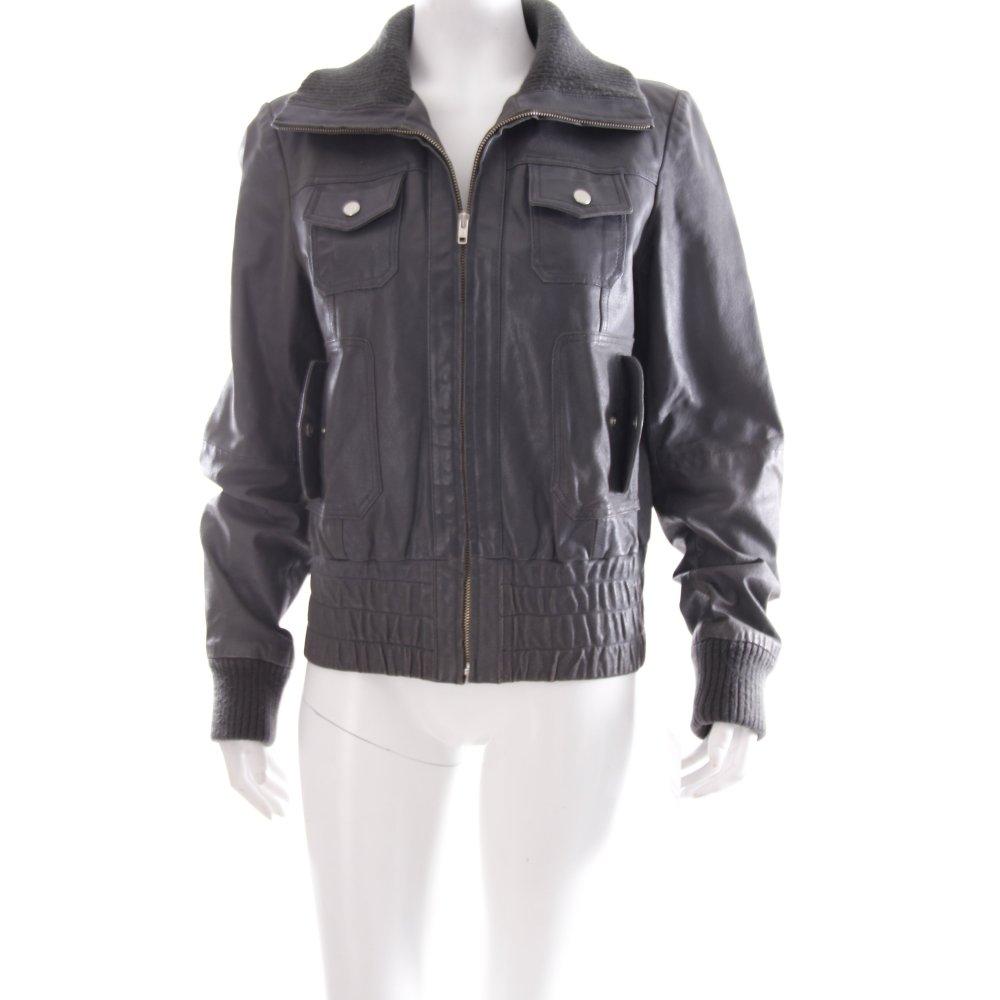 vero moda lederjacke grau biker look damen gr de 40 jacke jacket leder ebay. Black Bedroom Furniture Sets. Home Design Ideas