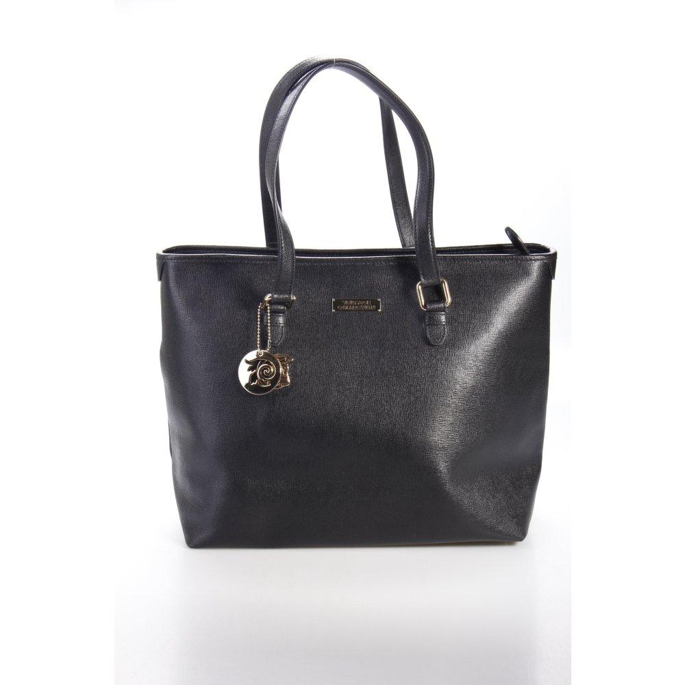 versace collection tote schwarz damen tasche bag leder. Black Bedroom Furniture Sets. Home Design Ideas