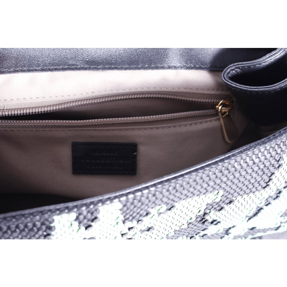 versace handtasche golden chain nero menta webmuster damen. Black Bedroom Furniture Sets. Home Design Ideas