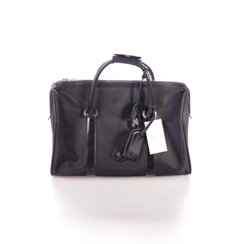 versace handtasche schwarz klassischer stil damen tasche. Black Bedroom Furniture Sets. Home Design Ideas
