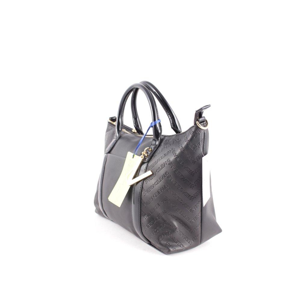 versace jeans handtasche schwarz elegant damen tasche bag. Black Bedroom Furniture Sets. Home Design Ideas