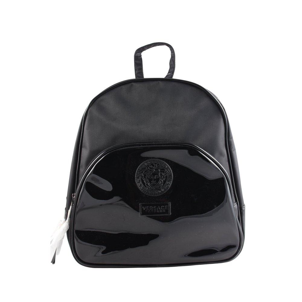 versace rucksack schwarz klassischer stil damen tasche bag. Black Bedroom Furniture Sets. Home Design Ideas