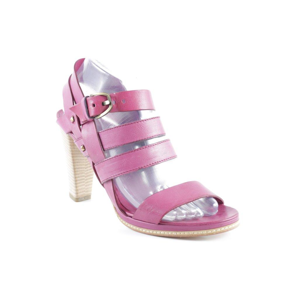 VIC MATIE Sandalo con cinturino e tacco alto viola stile classico Donna Pelle