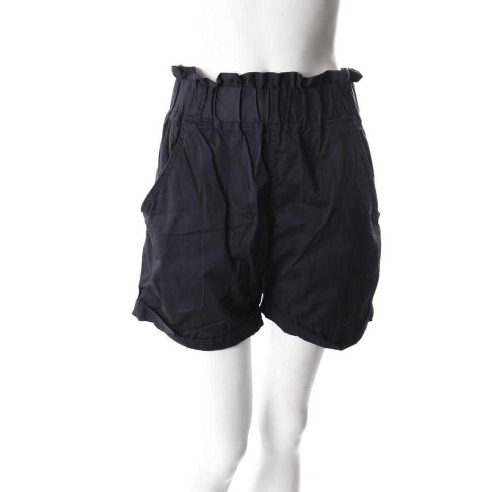 vila high waist shorts schwarz damen gr de 38 hose. Black Bedroom Furniture Sets. Home Design Ideas