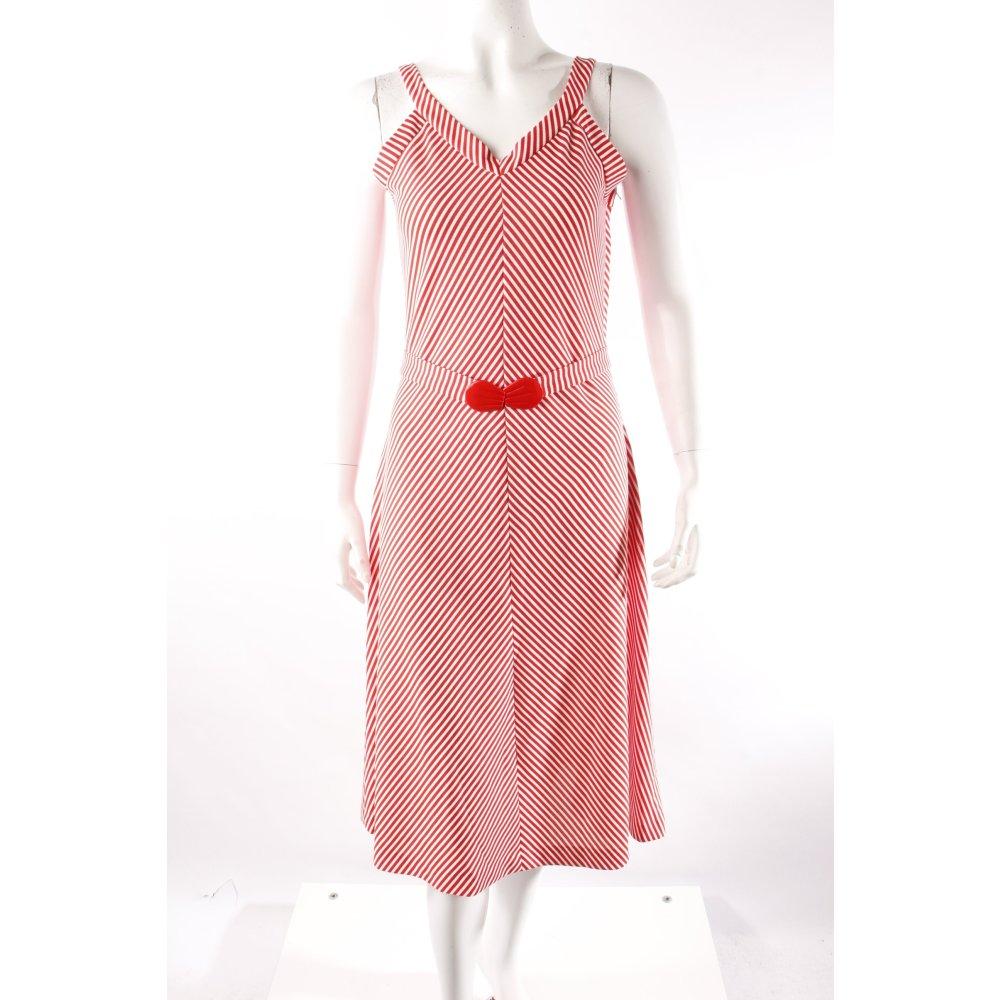 vintage kleid gestreift damen gr de 34 wei dress tr gerkleid pinafore dress ebay. Black Bedroom Furniture Sets. Home Design Ideas