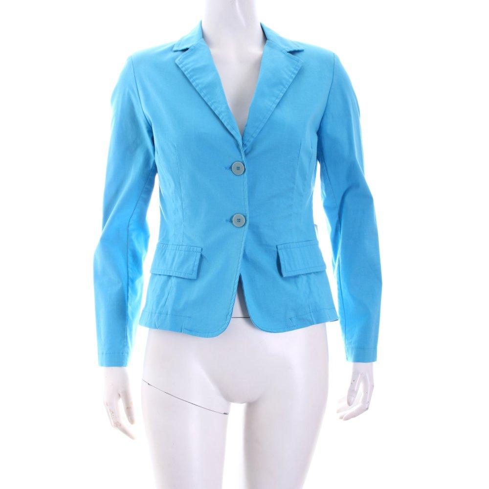 vittoria davoli kurz blazer hellblau casual look damen gr de 36 short blazer ebay. Black Bedroom Furniture Sets. Home Design Ideas
