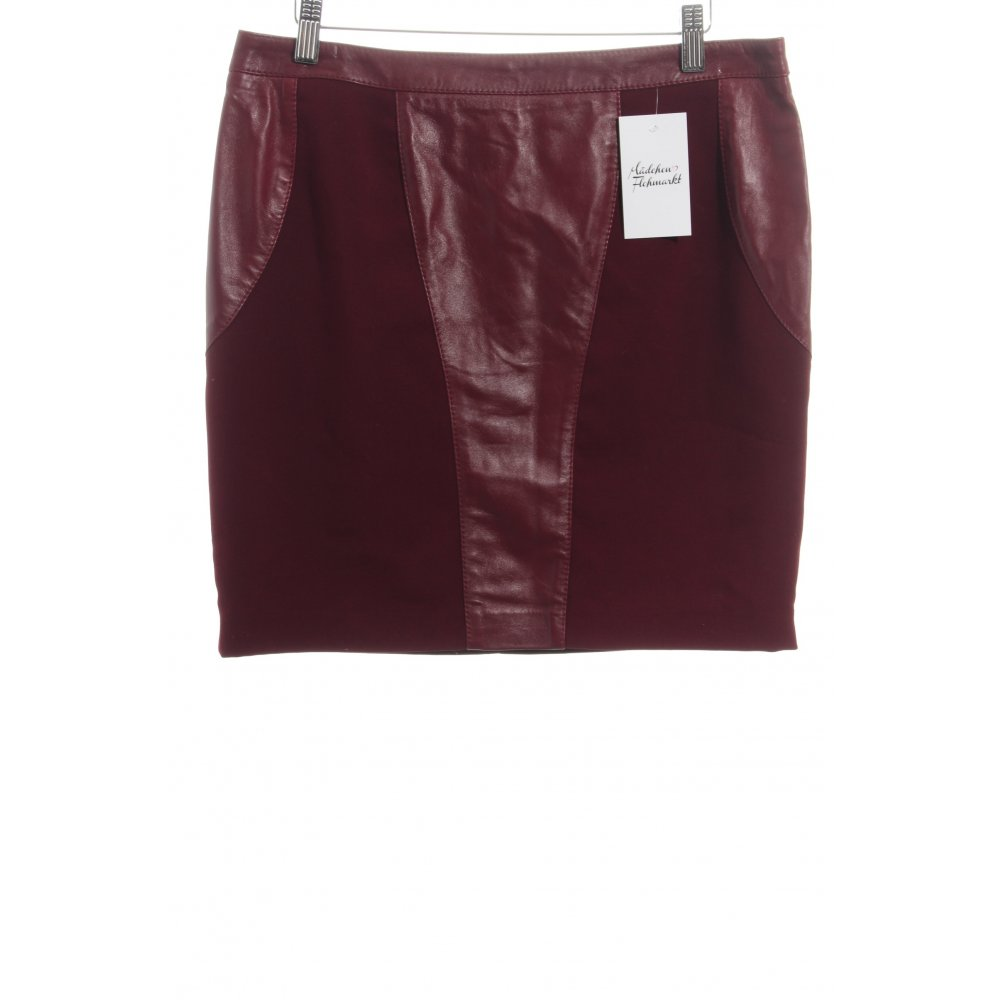 who s who leather skirt bordeaux biker look women s size