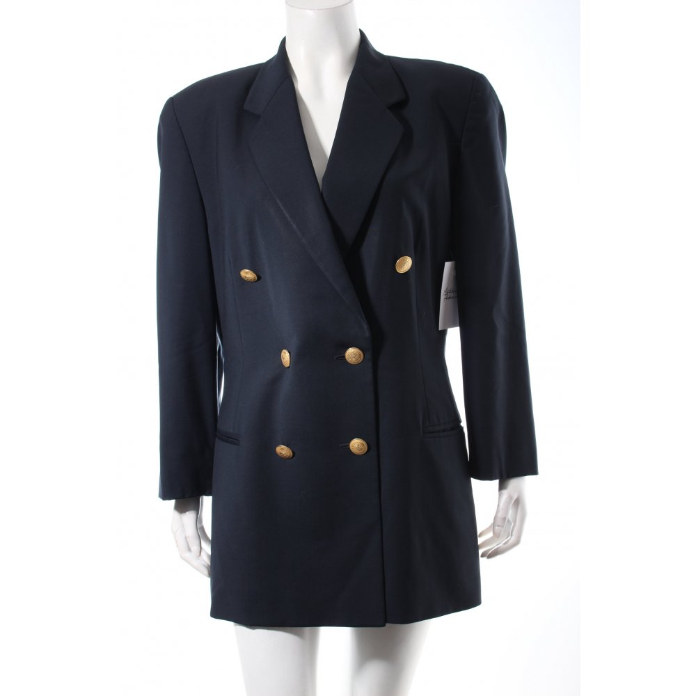 windsor smoking blazer dunkelblau elegant damen gr de 38 tuxedo blazer ebay. Black Bedroom Furniture Sets. Home Design Ideas