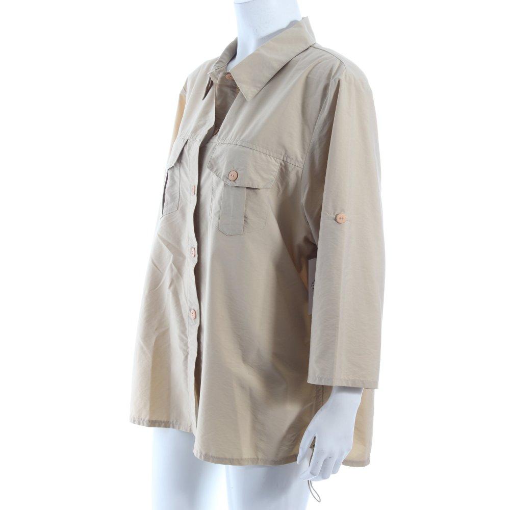 wissmach kurzarm bluse beige safari look damen gr de 44 blouse. Black Bedroom Furniture Sets. Home Design Ideas
