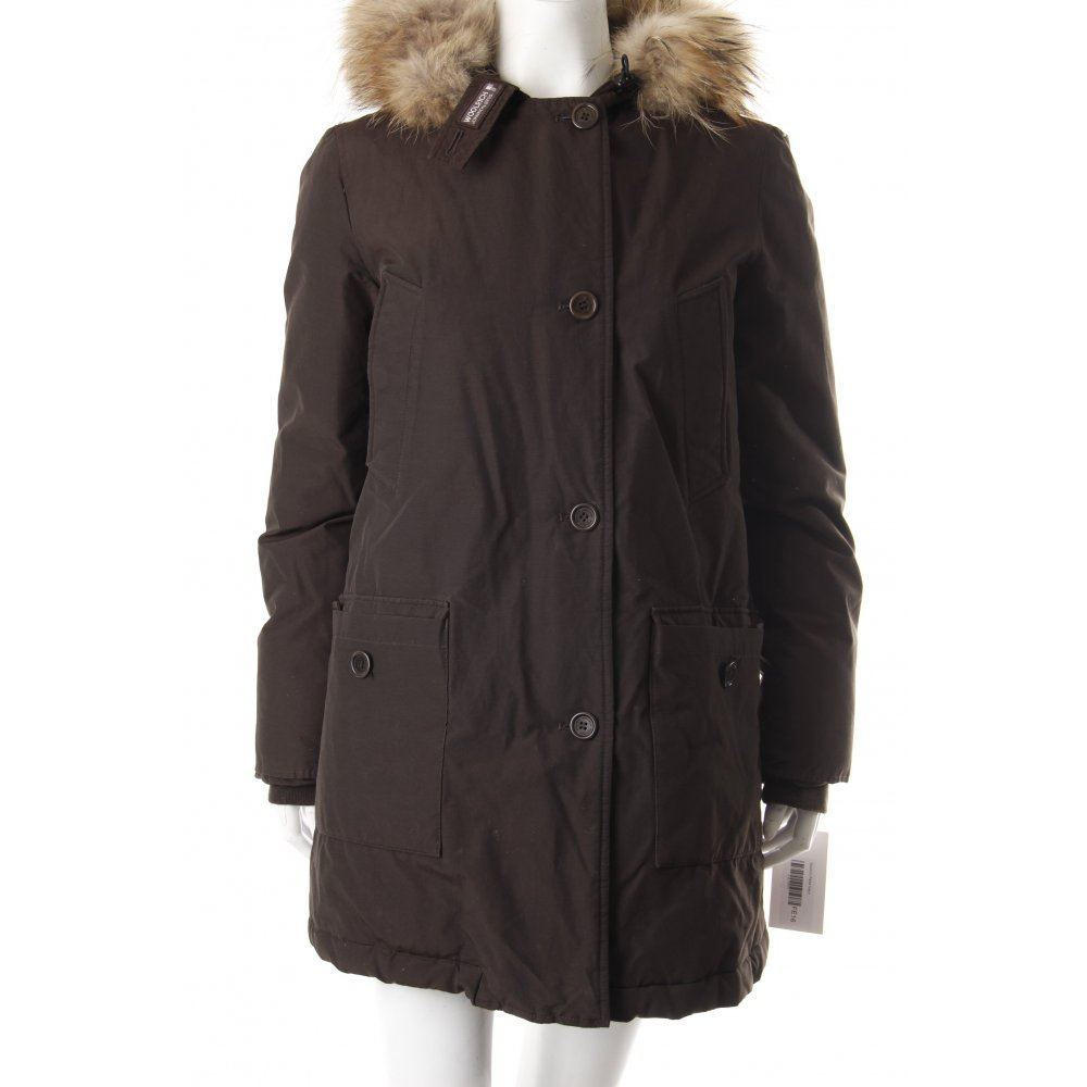details about woolrich parka braun damen gr de 38 jacke jacket. Black Bedroom Furniture Sets. Home Design Ideas