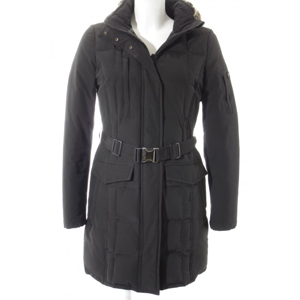 woolrich winterjacke blizzard parka schwarz damen gr de 36 jacke jacket ebay. Black Bedroom Furniture Sets. Home Design Ideas