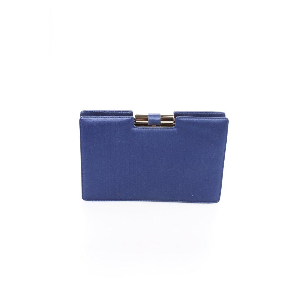 yves saint laurent clutch blau schimmer optik damen tasche bag ebay. Black Bedroom Furniture Sets. Home Design Ideas