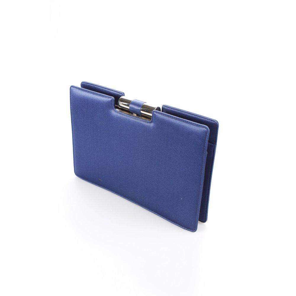 yves saint laurent clutch blau schimmer optik damen tasche. Black Bedroom Furniture Sets. Home Design Ideas