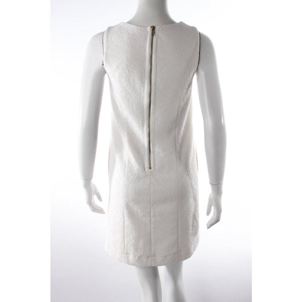zalando collection etuikleid webmuster damen gr de 34 creme kleid dress ebay. Black Bedroom Furniture Sets. Home Design Ideas