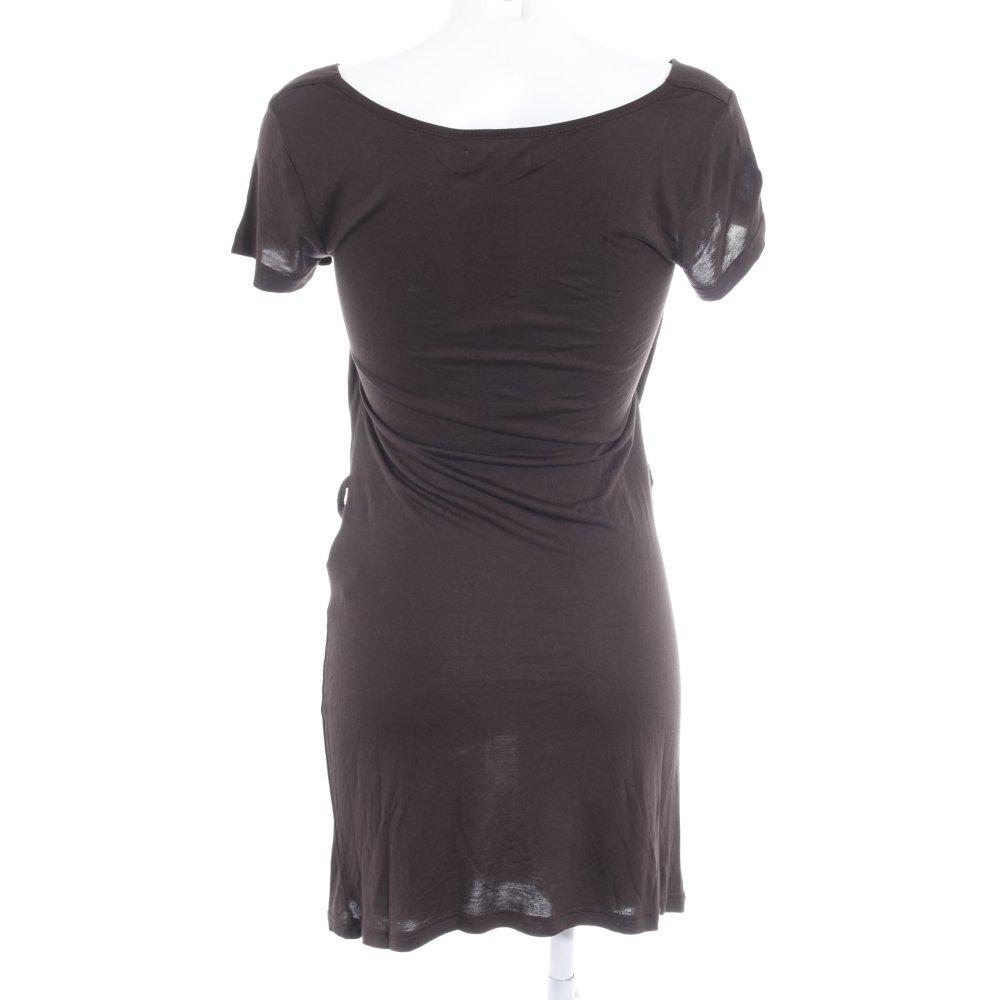 Détails sur ZALANDO COLLECTION Robe en jersey brun noir style décontracté Dames T 38