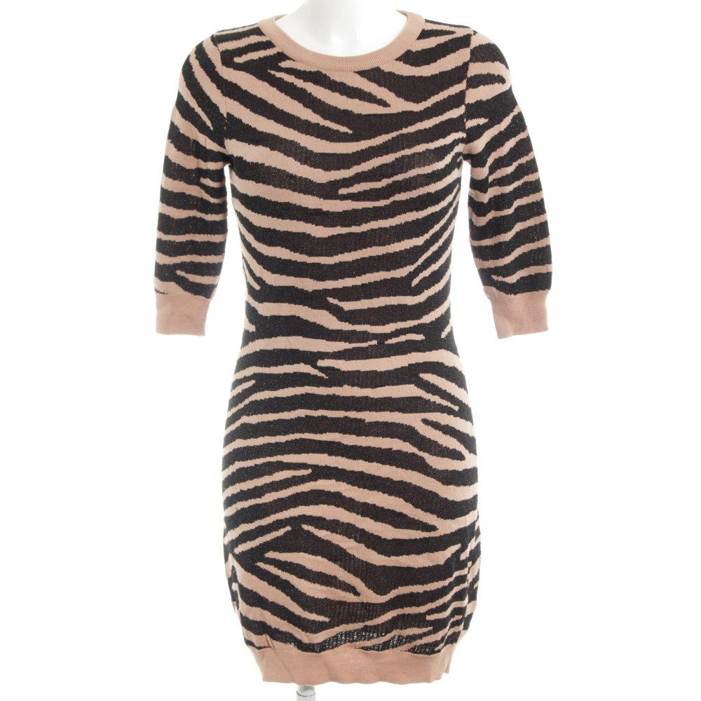 best service 6562c b9774 Dettagli su ZALANDO COLLECTION Vestito di lana nero-albicocca motivo  animale Donna Abito