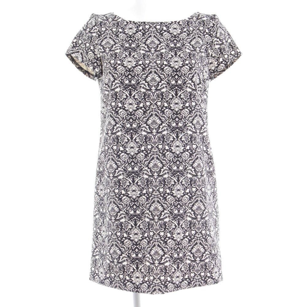 ZARA A-Linien Kleid schwarz abstraktes Muster Casual-Look ...