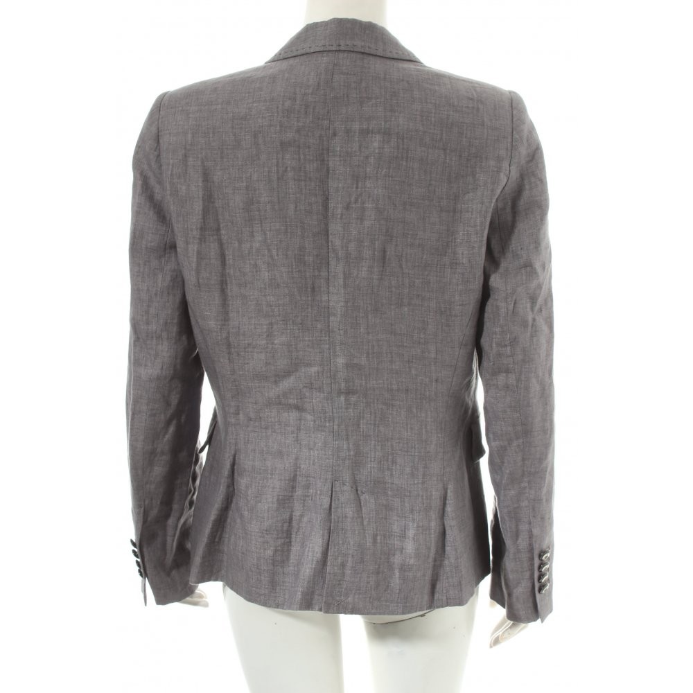 zara basic blazer grau klassischer stil damen gr de 40 ebay. Black Bedroom Furniture Sets. Home Design Ideas