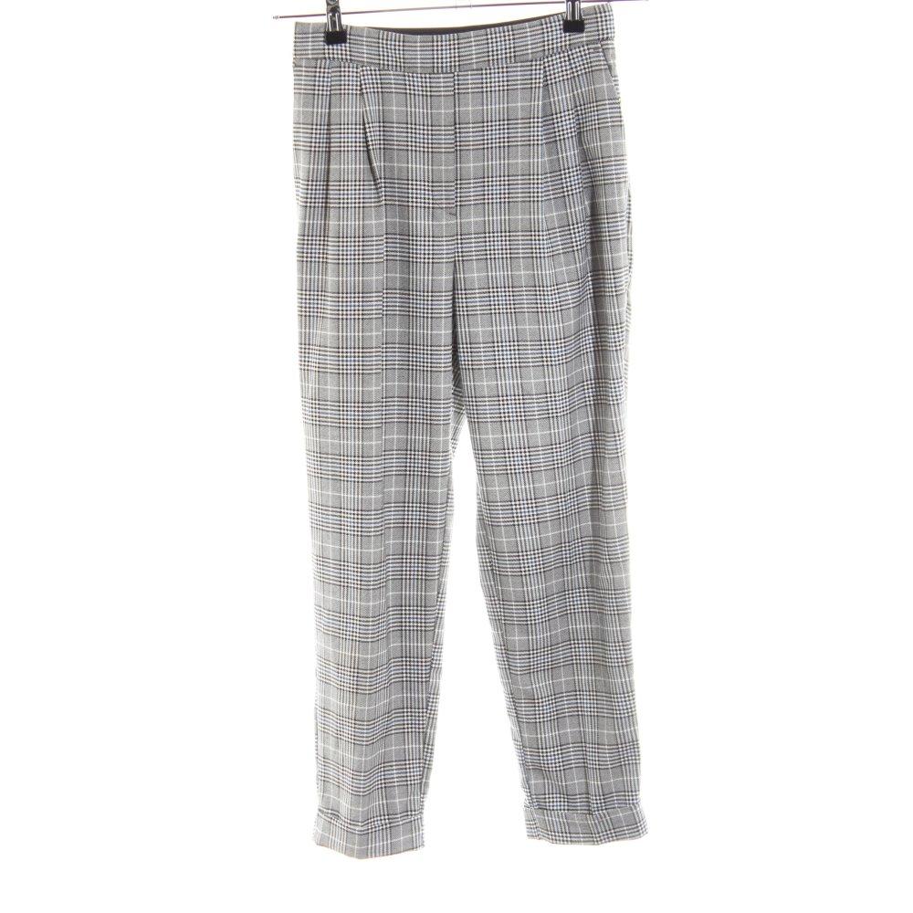 Zara Basic Pantalon De Pinza Estampado A Cuadros Estilo Business Mujeres Ebay